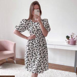 Заказать белое женское платье с ромашками из шифона в Украине