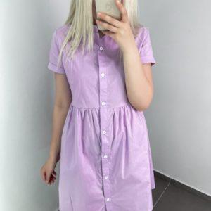 Купить лиловое летнее платье-рубашка для женщин онлайн