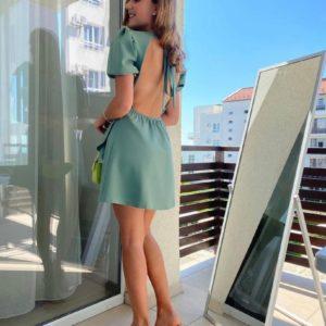 Купить онлайн хаки платье на завязке с открытой спиной для женщин