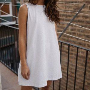 Купить сарафан белого цвета с открытой спиной для женщин онлайн