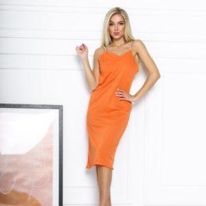 Заказать оранж женский трикотажный сарафан на бретельках дешево
