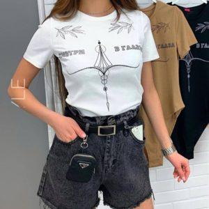 Заказать женские черные джинсовые шорты с кошельком (размер 42-48) онлайн