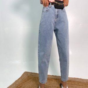 Купить голубые женские джинсы с кошельком онлайн