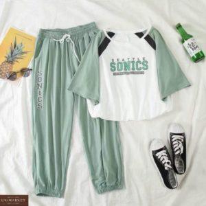 Заказать онлайн фисташка костюм с футболкой Sonics для женщин