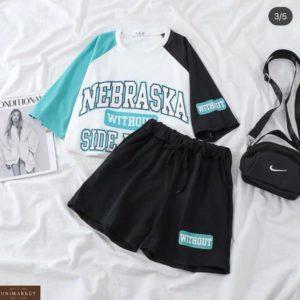 Приобрети ментол женский летний костюм Nebraska с шортами по скидке