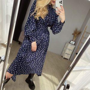 заказать прогулочное женское платье с длинным рукавом по низкой стоимости