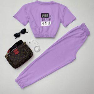 низкая цена на женский летний костюм лилового цвета от Unimarket