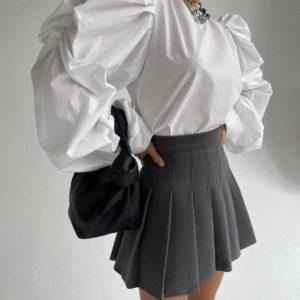 купить плиссированную юбку недорого онлайн в цвете графит