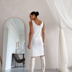 заказать вязанную женскую тунику приталенную по низкой цене