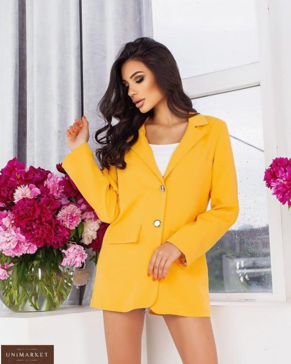 Заказать выгодно горчица удлиненный пиджак свободного кроя (размер 44-54) для женщин