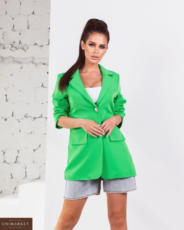 Приобрести недорого зеленый удлиненный пиджак свободного кроя (размер 44-54) для женщин