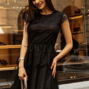 Купить по скидке черное нежное кружевное платье для женщин
