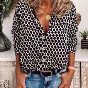 Купить онлайн белую принтованную шелковую рубашку для женщин