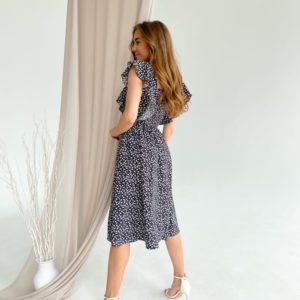 Купить со скидкой женский летний сарафан с рюшами (размер 42-48) черный