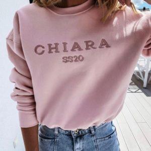 Заказать недорого пудровый свитшот Chiara для женщин