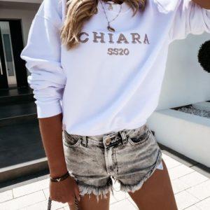 Купить онлайн белый женский свитшот Chiara