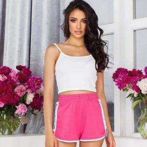 Заказать розовые женские спортивные короткие шорты (размер 42-52) недорого