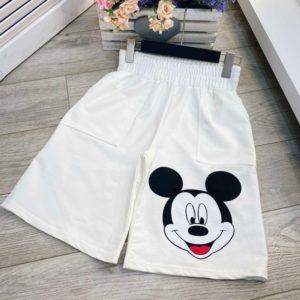 Заказать онлайн белого цвета шорты Микки из коттона для женщин