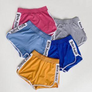 Купить серые, синие, голубые, горчица, розовые спортивные короткие шорты (размер 42-52) для женщин в Украине