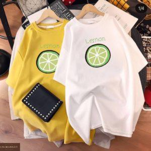 Заказать выгодно белую, желтую платье-футболку оверсайз для женщин