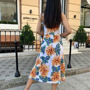 купить летний сарафан из штапеля с красочным принтом по низкой цене