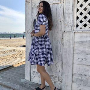 приобрести платье в клетку женское из коллекции лето 2021 по акционной цене в онлайн магазине Unimarket