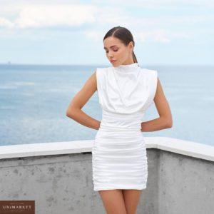 приобрести белое вечернее мини платье приталенное из летней коллекции 2021 года по выгодной цене онлайн