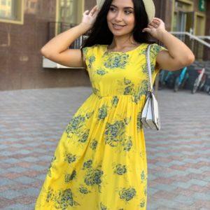 приобрести женское платье прогулочное из коллекции лето 2021 по акционной цене в Unimarket