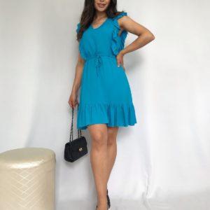 штапелевое платье женское голубого цвета с быстрой доставкой по Украине коллекция лето 2021