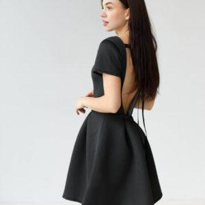 заказать черное вечернее платье с открытой спиной по лучшей цене от поставщика