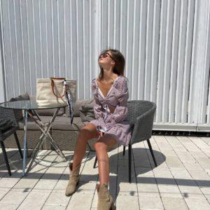 купить прогулочное платье из прошвы с короткой юбкой по акционной цене