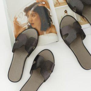заказать женские черные шлепки летние из кожи по низкой стоимости в магазине Unimarket