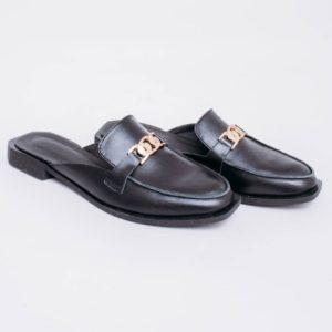 приобрести туфли мюли мермаид черного цвена с доставкой по Украине