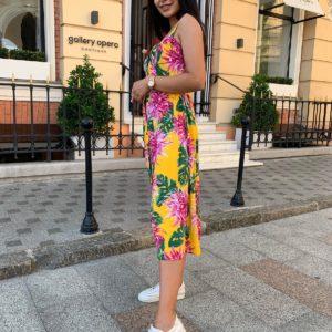 женский прогулочный сарафан на бретелях по акционной цене в магазине Unimarket