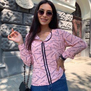 Купить выгодно пудра блузку с надписями (размер 42-56) для женщин