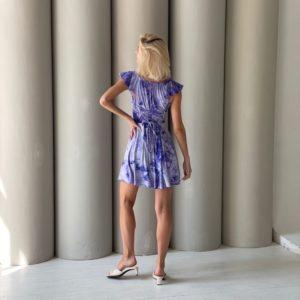 Заказать онлайн синее платье мини с разводами для женщин