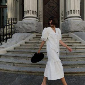 Приобрести по низким ценам белое легкое платье из прошвы (размер 42-48) для женщин