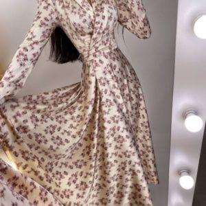 Купити бежеве жіноче Шовкове плаття люкс якості по зніжці