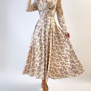 Купити бежеве жіноче шовкове плаття люкс якості по знижці