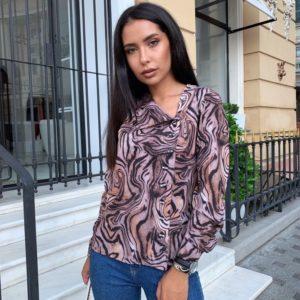 Купить выгодно леопардовую рубашку с пуговицами (размер 42-56) для женщин