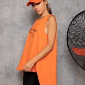 Приобрести оранжевую удлиненную майку Voyageдля женщин онлайн (размер 42-48)