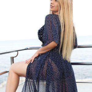 Купить женский пляжный кардиган-парео (размер 42-70) черный по скидке