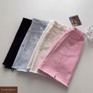 Заказать онлайн черную, беж юбку из джинса бенгалин для женщин