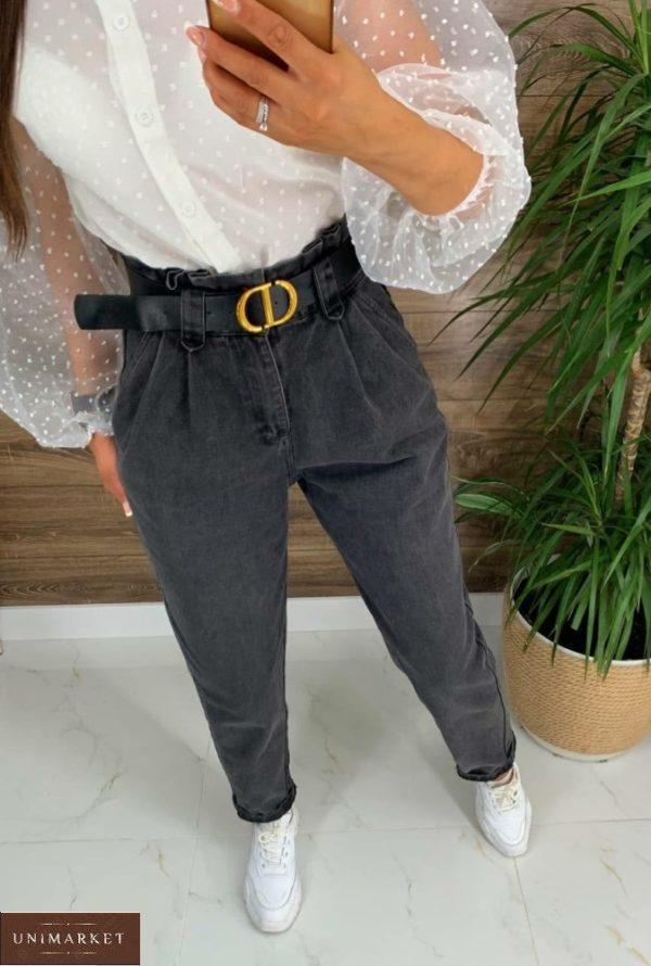 Заказать графит женские джинсы с защипами (размер 42-48) в интернете