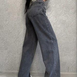 Купити онлайн сірого кольору джинси труби для жінок