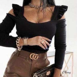 Заказать онлайн черную женскую трикотажную кофту с крылышками