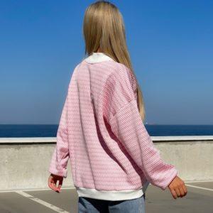 Придбати рожевий трикотажний кардиган на флісі жіночий онлайн