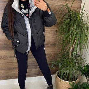 Заказать онлайн черную женскую короткую куртку на змейке