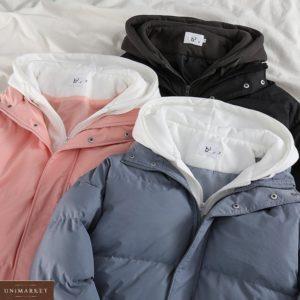 Приобрести в интернете розовую, черную, серую куртку с капюшоном для женщин