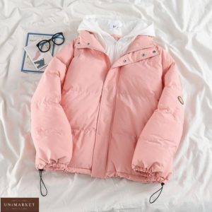 Заказать онлайн розовую куртку с капюшоном для женщин
